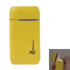 Stylish Mini Windproof Butane Gas Lighter - Yellow