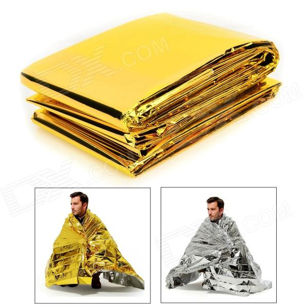 MUXIN I104 Outdoor Emergency PET Film Lifesaving Insulation Blanket - Golden