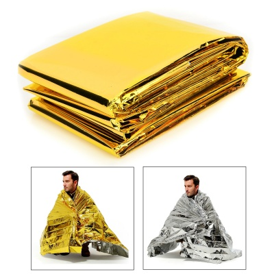 MUXIN Outdoor Emergency PET Film Lifesaving Insulation Blanket - Gold