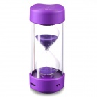 Wireless Bluetooth Stereo Mini Speaker Sandglass Hourglass Timer - Purple