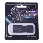 Kingston DT100G3-64G de alta velocidad USB 3.0 Flash Drive - Negro (64GB)