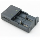 iTaSee 2-Slot 18650 NiMH Lithium Battery Charger w/ 5V USB Output - Black (EU Plug / 110~240)