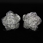 925 Rose Style Ear Studs - Silver