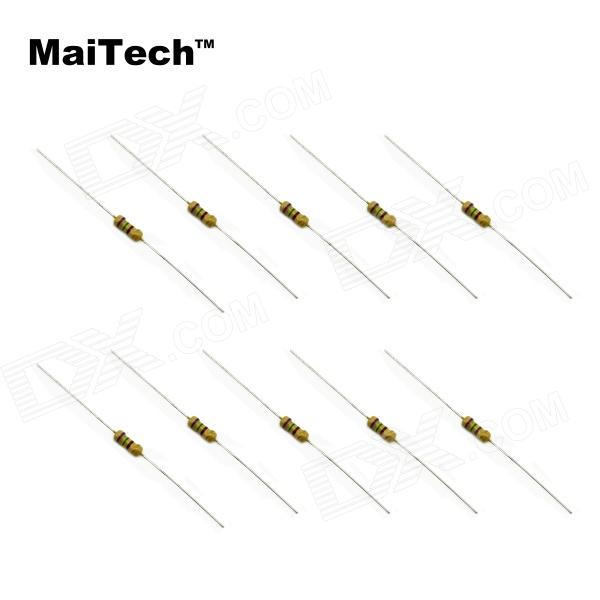 MaiTech Component Package 1/4W Carbon Film Resistors 22R-330R 5% (250PCS) jtron 0 5w carbon film resistors color ring resistance blue 100 pcs