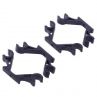 2-Axis Frame Landing Skid Mount FPV Gimbal Suspender Mounting Hook 10mm - Black (2-Pair)