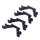 2-Axis Frame Landing Skid Mount FPV Gimbal Suspender Monterings Hook 10mm - Svart (2-par)