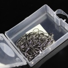 8 Fishing Pin Fishhook - Silver (100 PCS)