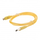 Universal USB 2.0 Male to Micro USB Male Data Sync & Charging Cable for Cell Phone - Yellow (100cm)