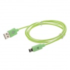 Universal USB 2.0 Male to Micro USB Male Data Sync & Charging Cable for Cell Phone - Green (100cm)