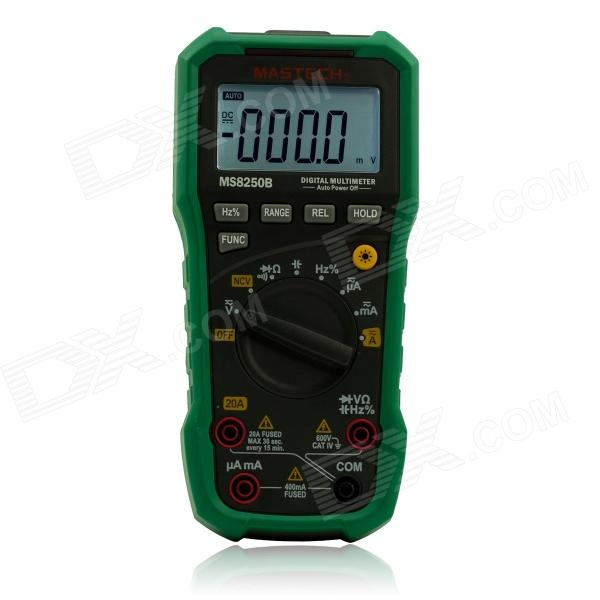 MASTECH MS8250B Handheld Smart Digital Multimeter w/ USB Communication Interface - Green my68 handheld auto range digital multimeter dmm w capacitance frequency