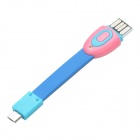 MDS-10 Mini Smart 3-in-1 Multi-functional Micro USB to V8 OTG Cable - Blue + Pink