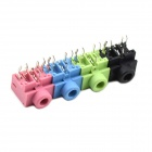 MaiTech 5-Pin Dual-channel 3.5 Audio Socket - Pink + Green + Blue + Black (4 PCS)