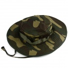 YUSHAN Outdoor Large Brimmed Hat w/ Gauze - Army Green Camouflage