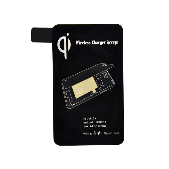Wireless Charger Receiver for Samsung Galaxy S5 - Black samsung g900h galaxy s5 16гб белый в омске