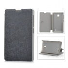 Protective PU Leather + PC Case Cover Stand for NOKIA X - Black