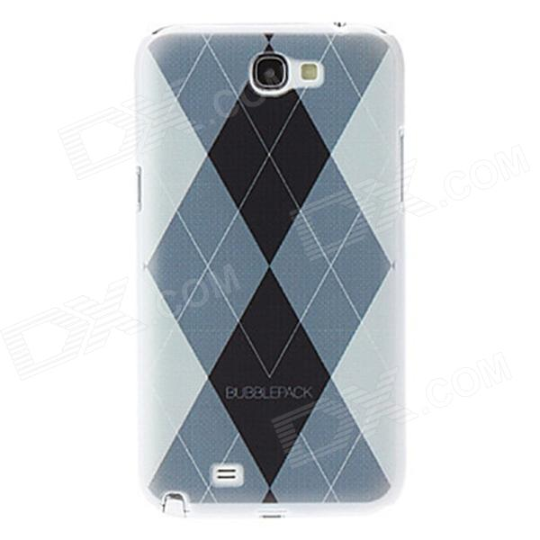 Kinston Rhombus Pattern Protective Plastic Hard Back Case for Samsung Galaxy Note 2 N7100 - White protective plastic back case for samsung galaxy note 2 n7100 translucent white