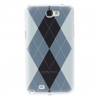 Kinston Rhombus Pattern Protective Plastic Hard Back Case for Samsung Galaxy Note 2 N7100 - White