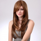 Fashion Synthetic Wave Long Hair Wig - Brownish Yellow