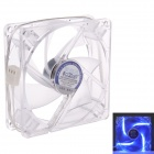 F-86 Silent PC Case Cooling Fan w/ Blue LED - Transparent