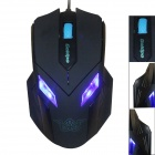 GOLDPO X-906 USB Wired 1600 dpi Gaming Mouse w/ Real DPI Switching - Black