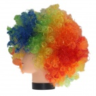 2014 World Cup Fans Explosion Hair Curly Party Wig - Red + Yellow + Blue + Green