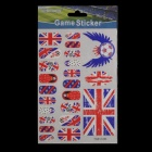 2014 World Cup UK Flag Design Nail Stickers - Red + Blue