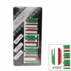 K1033 World Cup Italian Flag Design Nail Stickers