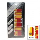 K1038 World Cup Spanien flaggan Design Nail Stickers