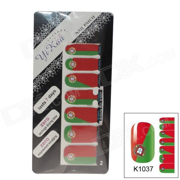 K1037 World Cup Portugalin lipun Design tarrat