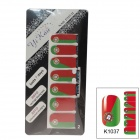 K1037 World Cup Portugal Flag Design Nail Stickers