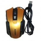GOLDPO X-903 Wired USB 2400dpi Gaming Mouse - Gold + Black
