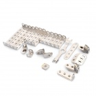 XW XW128822 DIY Retro Locomotive Train Alloy Assembly Accessory Toy Set - Red + Silver