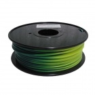 Color Changed by Temperature Series Blue Green to Yellow Green 3mm 3D PLA Print Cable (139m)