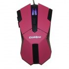 GOLDPO X-905 kablet USB 2400dpi Gaming Mouse m / 4-Speed ​​-Rød + Svart