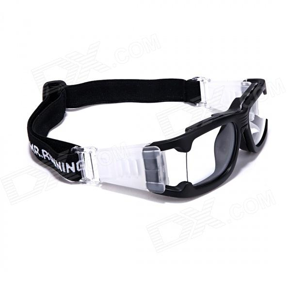 MR. Running Outdoor Sports Glasses Goggles - Transparent + Black