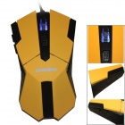 GOLDPO X-905 Wired USB 2400dpi Gaming Mouse w/ 4-Speed -Yellow + Black