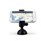 360° Rotatable Car Mount Bracket Holder Suction Cup w/ Capacitive Stylus Pen for Phone GPS - Black