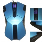 GOLDPO X-905 Wired USB 2400dpi Gaming Mouse w/ 4-Speed - Blue + Black