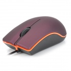 Lenovo M20 USB 2.0 Optical Wired Mouse - Wine Red + Black