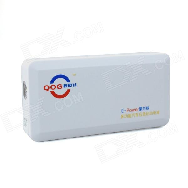 QOG JL-002 12000mAh Multifunctional Mobile Power Source for Notebook / PC / Car Starting - White