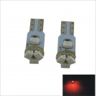 T5 0.5W 5 x SMD 3020 LED Red Light Car Instrument Lamp - (2 PCS / 12V)