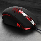 Dare-u USB Wired 500/1000/2000dpi Optical LED Gaming Mouse - Black