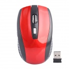 2.4GHz Wireless 800/1200/1600dpi Optical Mouse - Red + Black