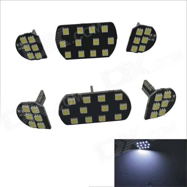 T10 9W 720lm 48 x SMD 5050 LED White Car Dome Light for Citroen C5/ Mark 307/308 - (6 PCS / 12V)