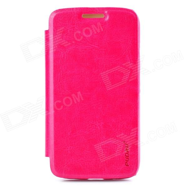 PUDINI WB-MOTOG Protective PU Leather + PC Flip Open Case w/ Stand for MOTO G - Pink летние шины yokohama 235 45 r17 97w bluearth a ae50