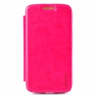 PUDINI WB-MOTOG Protective PU Leather + PC Flip Open Case w/ Stand for MOTO G - Pink