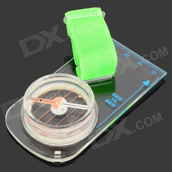 Outdoor Sports Strong Magnetic Compass - White + Green