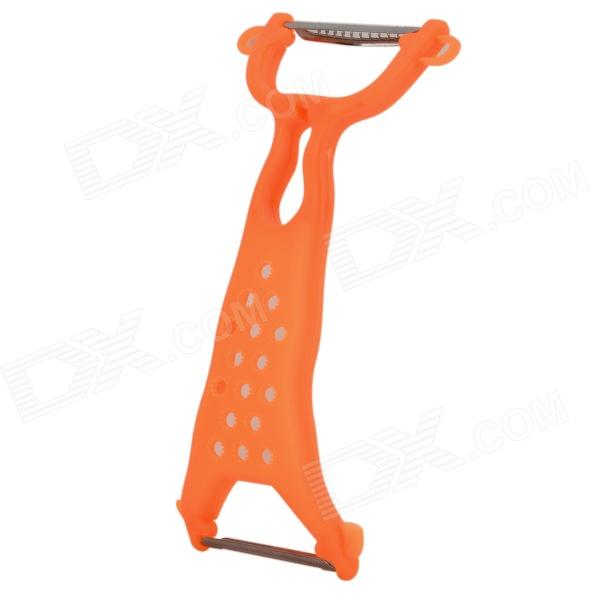 Multifunction Kitchen Vegetable Fruit Peeler Slicer - Orange