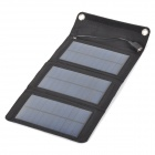 Miniisw SW-050 Portable Foldable 5W Solar Panel Charger - Black