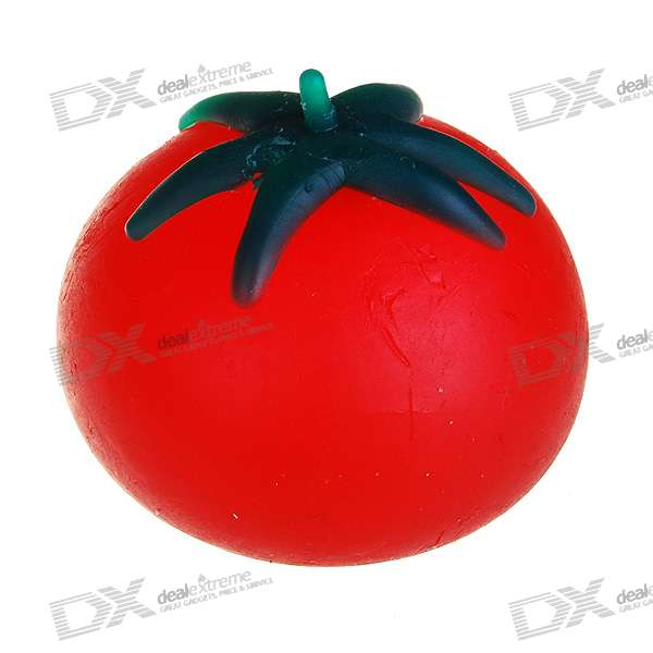 Soft Silicone Toy Estresse Reliever - Tomate